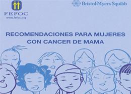Recomendaciones cáncer de mama